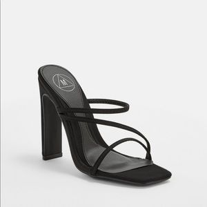 Missguided Strappy Black Heeled Sandals